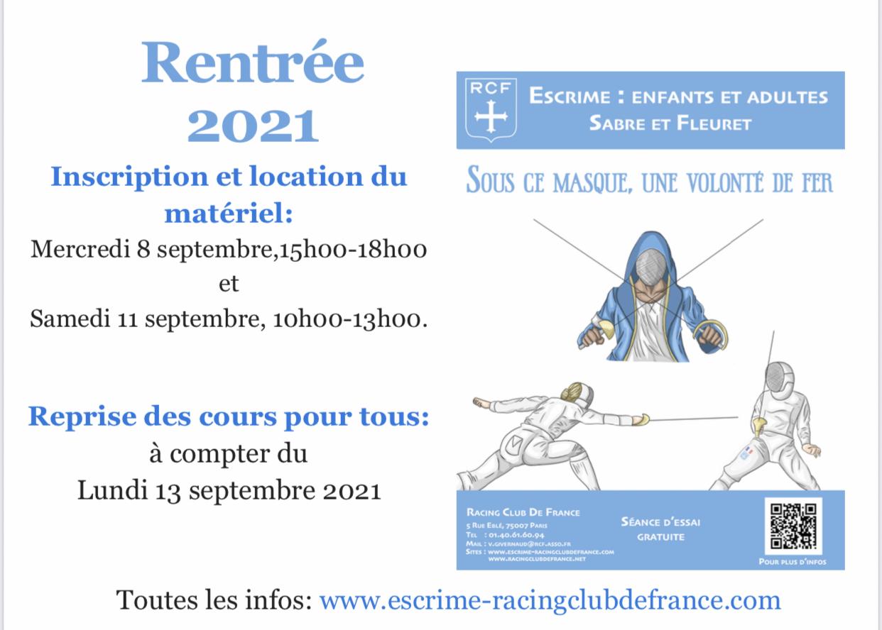 Informations rentrée 2021